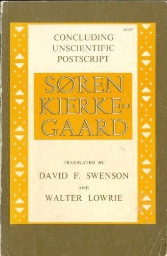 Concluding Unscientific Postscript   1968 edition cover