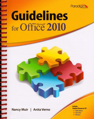 Guidelines for Microsoft Office 2010   2011 edition cover