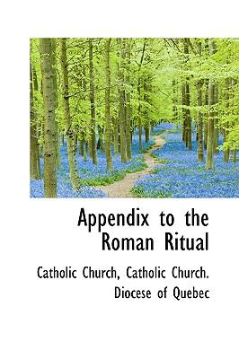 Appendix to the Roman Ritual  N/A edition cover