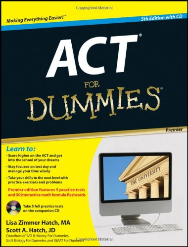 Act for Dummies�  5th 2012 9781118012604 Front Cover