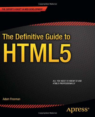 Definitive Guide to HTML5   2011 edition cover