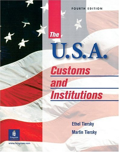 U. S. A. Customs and Institutions 4th 2001 edition cover