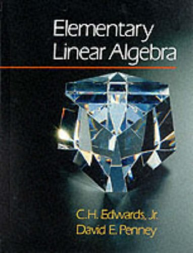 Elementary Linear Algebra   1988 edition cover