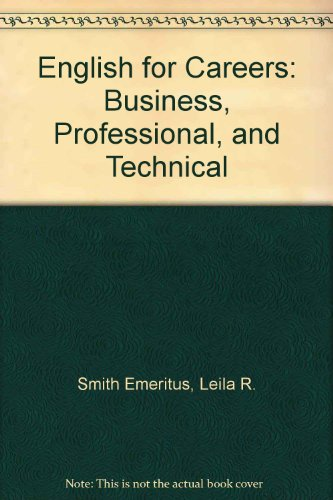 English for Careers Business, Professional and Technical 5th 1992 9780132764605 Front Cover