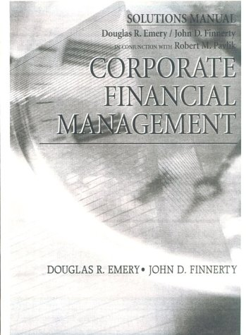 Corporate Financial Management Student Manual, Study Guide, etc.  9780137235605 Front Cover