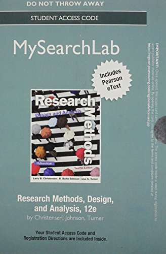 Research Methods, Design, and Analysis New Mypsychlab With Pearson Etext Standalone Access Card:   2013 edition cover
