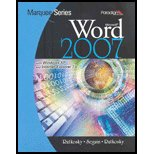Microsoft Word 2007 with Windows XP and Internet Explorer 7.0  N/A 9780763829605 Front Cover