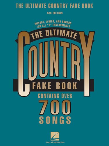 Ultimate Country Fake Book C Instruments 5th (Revised) edition cover