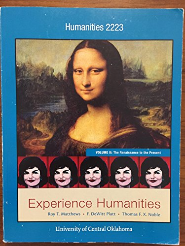 EXPERIENCE HUMANITIES,V.II >CUSTOM<     N/A 9781259385605 Front Cover