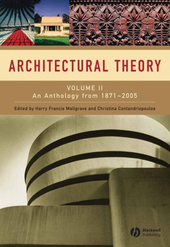 Architectural Theory An Anthology from 1871 to 2005  2007 edition cover