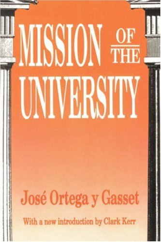 Mission of the University   1991 9781560005605 Front Cover