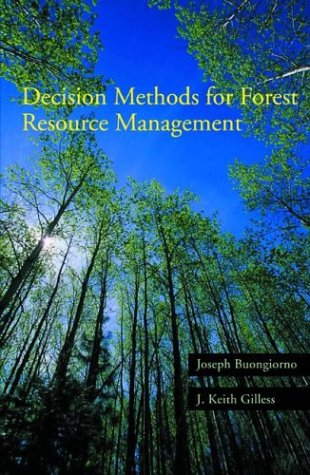 Decision Methods for Forest Resource Management   2003 9780121413606 Front Cover