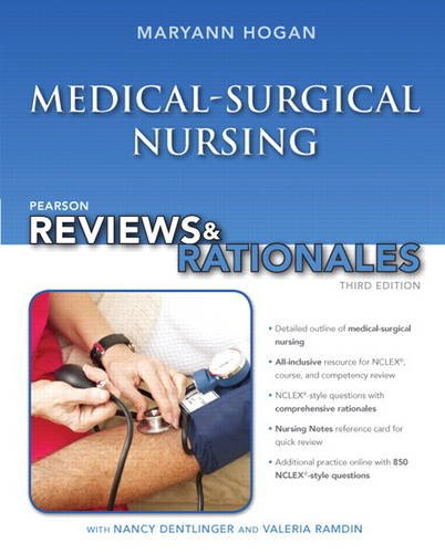 Pearson Reviews and Rationales Medical-Surgical Nursing with Nursing Reviews and Rationales 3rd 2014 edition cover