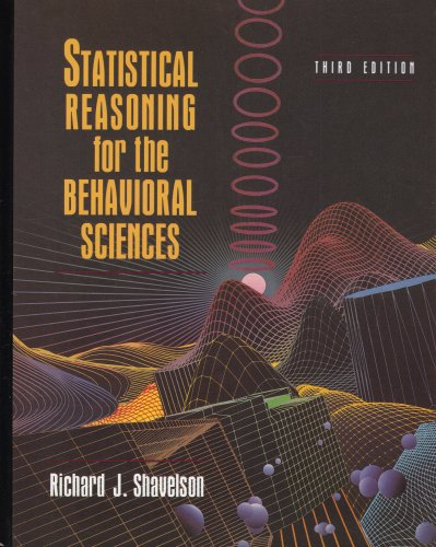 Statistical Reasoning for the Behavioral Sciences  3rd 1996 (Revised) edition cover