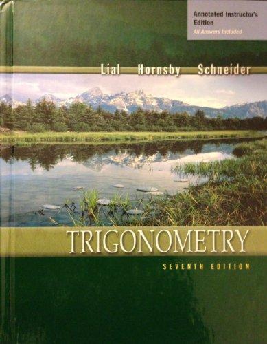 Trigonometry 7th 2001 (Teachers Edition, Instructors Manual, etc.) 9780321068606 Front Cover