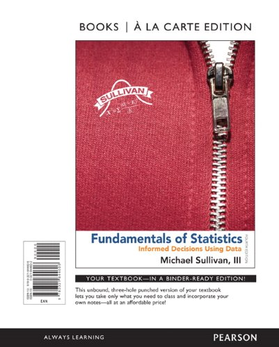 Fundamentals of Statistics, Books a la Carte Edition  4th 2014 edition cover