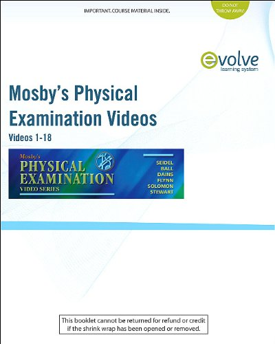 Mosby's Physical Examination Video Series (User Guide and Access Code) Online Version, Videos 1-18  2010 9780323077606 Front Cover