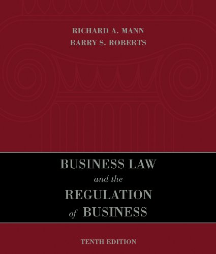 Business Law and the Regulation of Business  10th 2011 edition cover