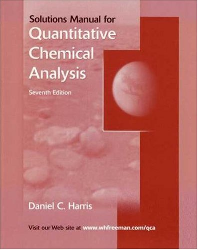 Quantitative Chemical Analysis  7th 2007 (Revised) edition cover