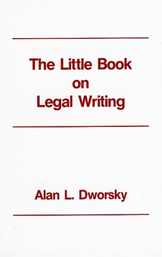 Little Book on Legal Writing 2nd edition cover