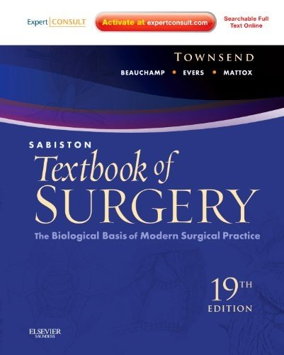Sabiston Textbook of Surgery The Biological Basis of Modern Surgical Practice 19th 2012 edition cover