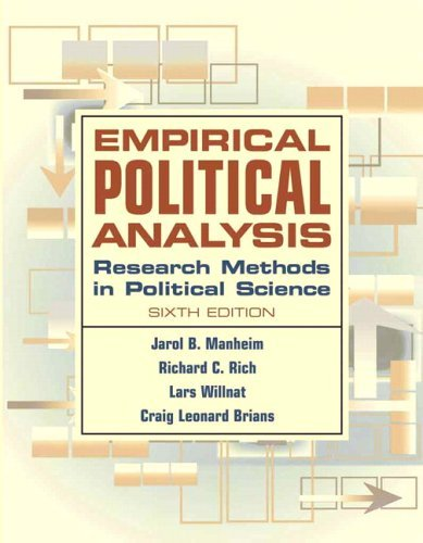 Empirical Political Analysis Research Methods in Political Science 6th 2006 (Revised) edition cover