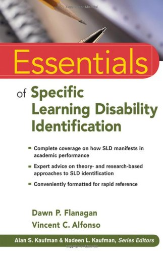 Essentials of Specific Learning Disability Identification   2010 edition cover