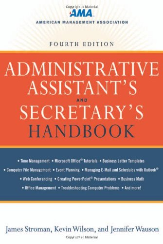 Administrative Assistant's and Secretary's Handbook  4th 2011 edition cover