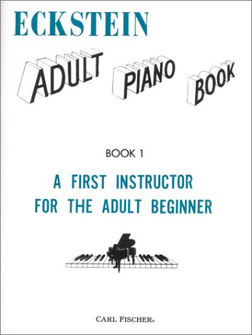 ECKSTEIN:ADULT PIANO BK.1 1st edition cover