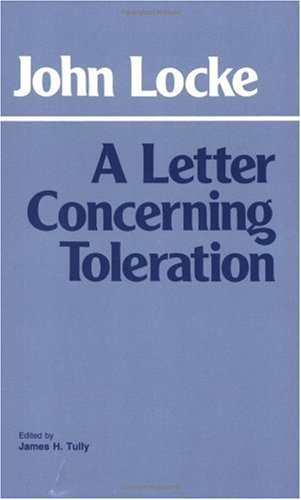 Letter Concerning Toleration  N/A edition cover