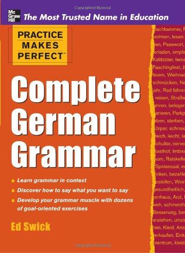 Complete German Grammar   2012 edition cover
