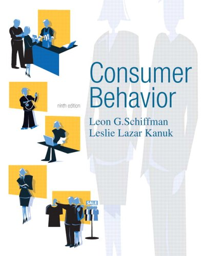 Consumer Behavior  9th 2007 (Revised) 9780131869608 Front Cover