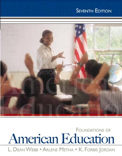 Foundations of American Education  7th 2013 edition cover