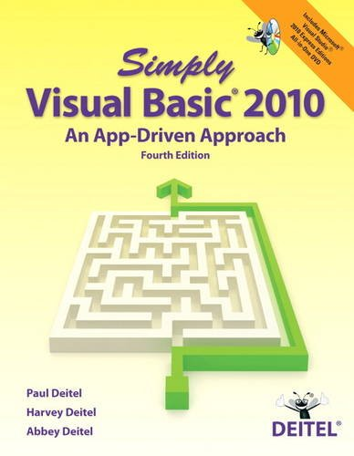 Simply Visual Basic 2010 An App-Driven Approach 4th 2013 (Revised) edition cover