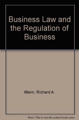 Business Law and the Regulation of Business  5th 1996 9780314064608 Front Cover