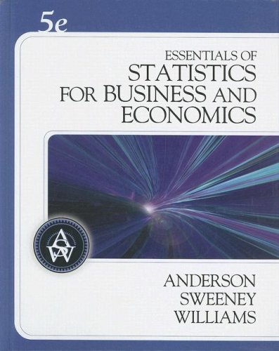 Essentials of Statistics for Business and Economics  5th 2009 edition cover