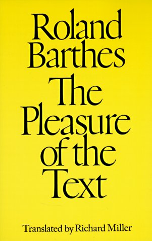 Pleasure of the Text   1980 edition cover
