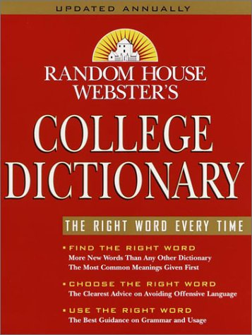 Random House Webster's College Dictionary  2nd 2001 (Revised) edition cover