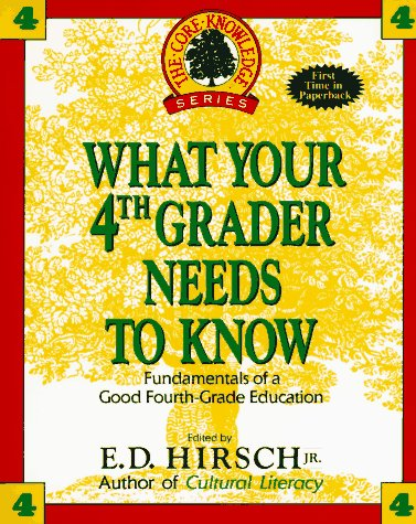 What Your Fourth Grader Needs to Know Fundamentals of a Good Fourth-Grade Education N/A 9780385312608 Front Cover