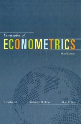 Principles of Econometrics  3rd 2008 edition cover