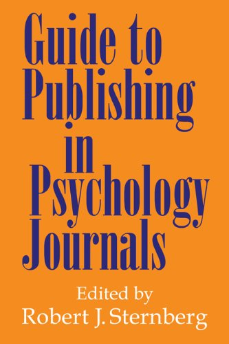 Guide to Publishing in Psychology Journals   2000 edition cover