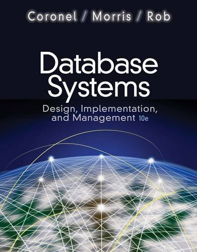 Database Systems Design, Implementation, and Management 10th 2013 edition cover