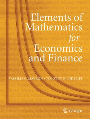 Elements of Mathematics for Economics and Finance   2007 edition cover