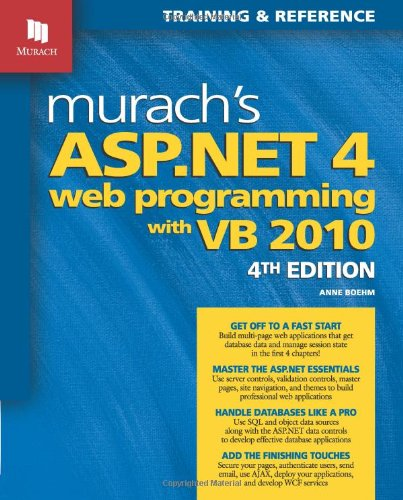 Murach's ASP. NET 4 Web Programming with VB 2010  4th 2011 edition cover