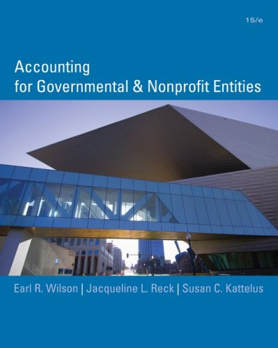 Accounting for Governmental and Nonprofit Entities  15th 2010 edition cover