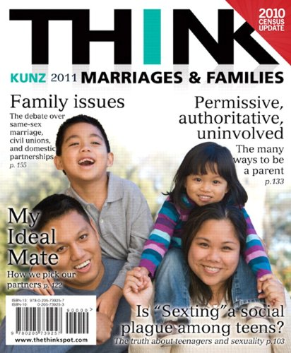 THINK Marriages and Families Census Update   2012 (Revised) 9780205167609 Front Cover