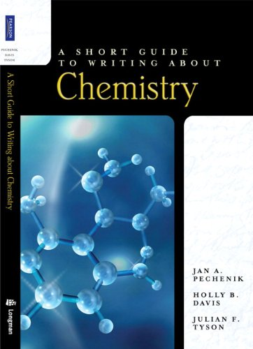 Short Guide to Writing about Chemistry   2010 edition cover