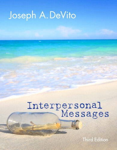 Interpersonal Messages  3rd 2014 edition cover