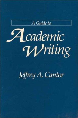 Guide to Academic Writing   1993 9780275946609 Front Cover
