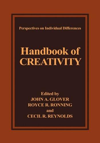 Handbook of Creativity   1989 9780306431609 Front Cover